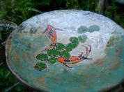 fish plate in garden