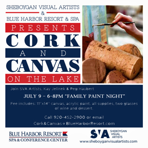 Cork&Canvas 4X4 Family Paint Night
