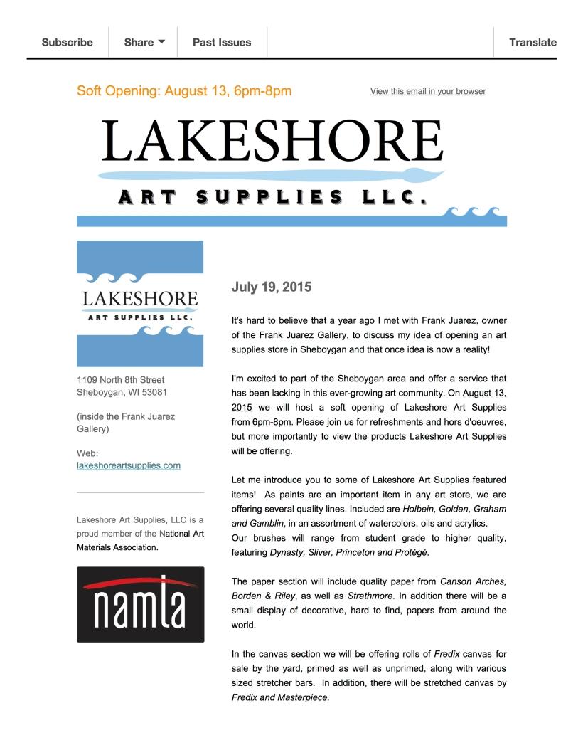 IntroducingLakeshore Art Supplies
