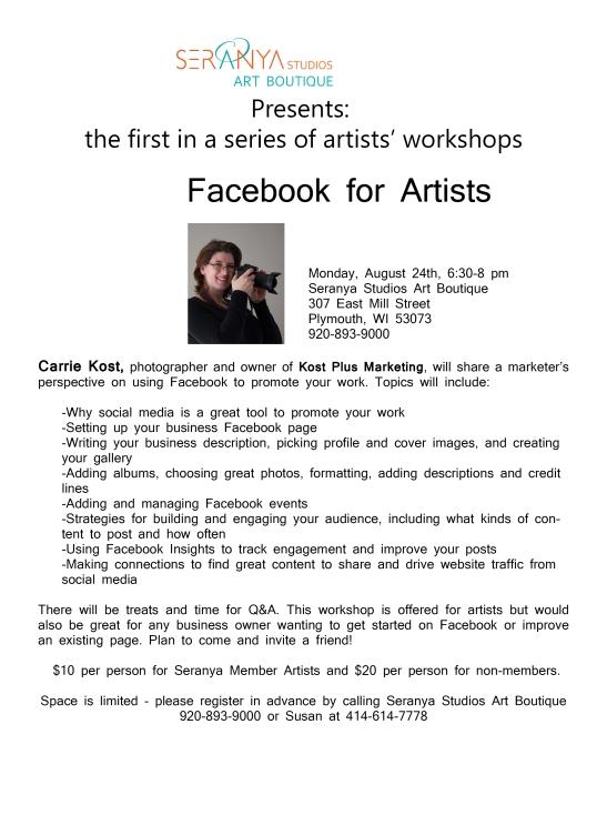 Carrie Kost FB workshop flyer 08.24.15