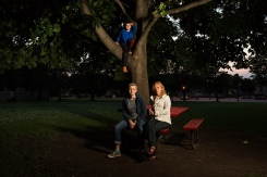 Neighborhood Series, Tammy, Oskar and Zoe, Shorewood, 2015