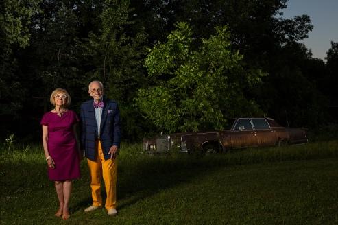 Neighborhood Series, Donna & Tony, color photograph, 2015