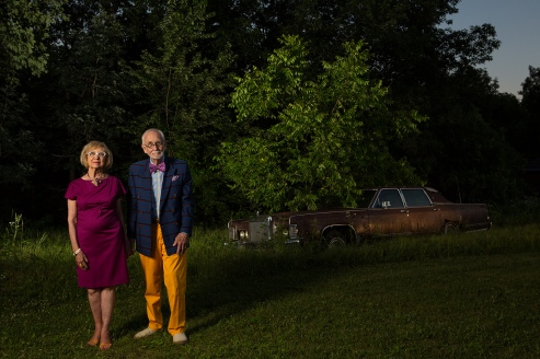 Neighborhood Series, Donna & Tony, color photograph, 2015