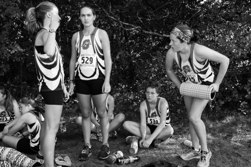 All In: Shorewood Girls Cross Country, Lucy, Olivia, Ellen and Abby, Mustang Meet, 2015
