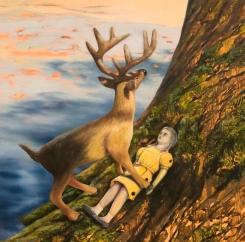 "Into the Wild, oil on panel, 8""x8"", 2016"
