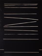 """Echo Base, Acrylic on wood, 12 x 9 x 1.5"""", 2017"""