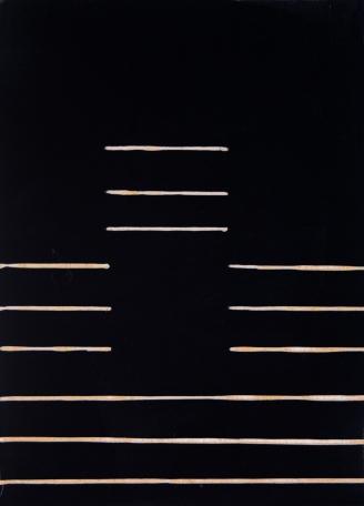 "Three Space Jump, Acrylic on wood, 7 x 5 x 1.5"", 2017"