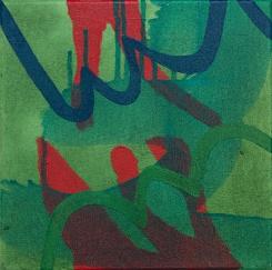 """Followed, Acrylic on canvas, 10"""" x 10"""", 2017"""