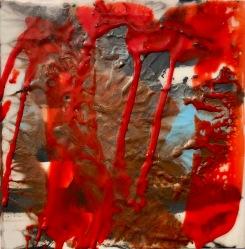 War Requiem. 6x6 in. Encaustic on cradled birch panel. 2018