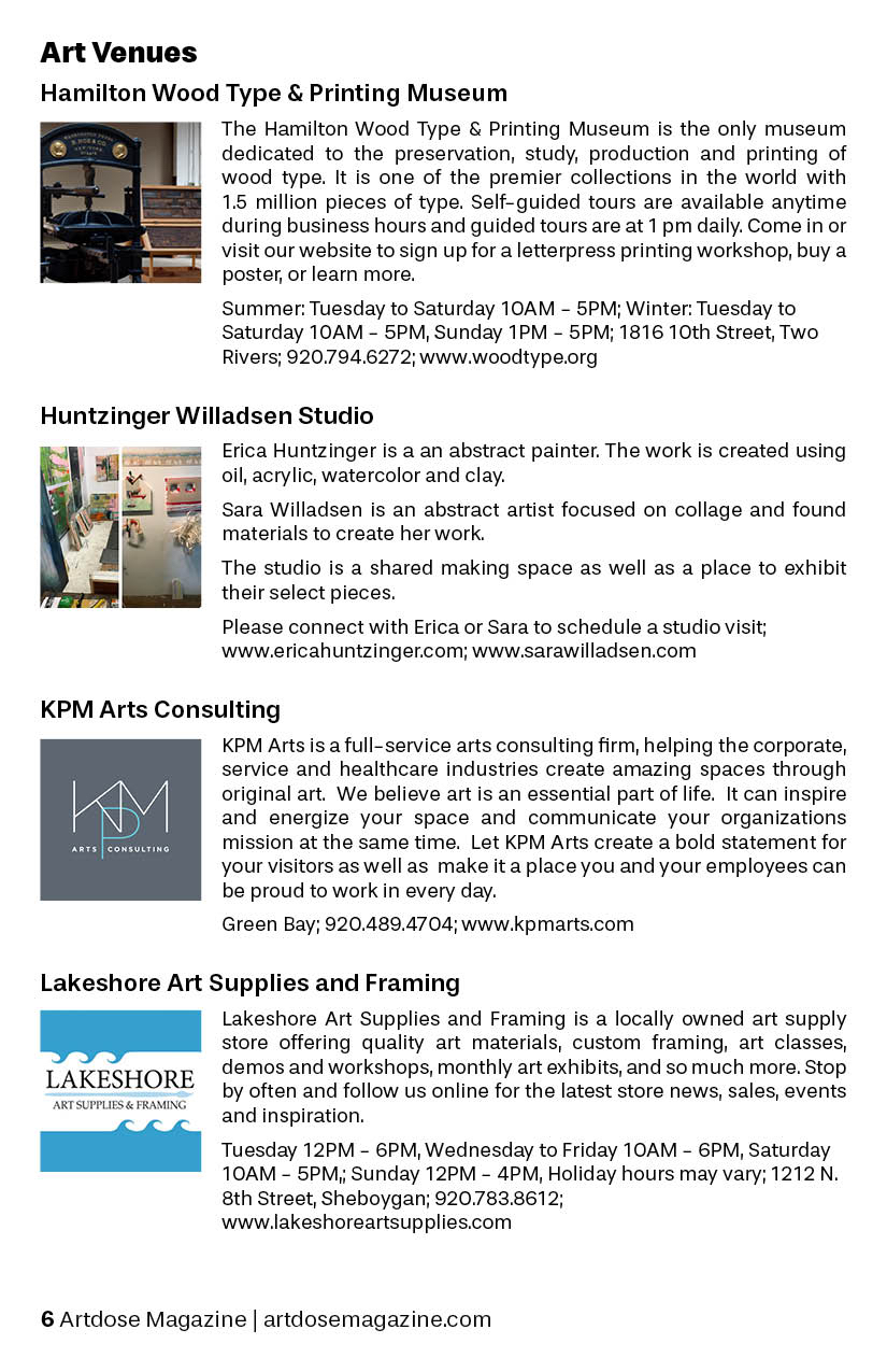 Connecting And Supporting The Visual Arts In Wisconsin