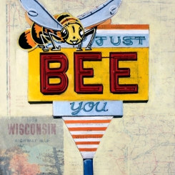 Just Bee You, Oil on paper, 11 x 14 inches