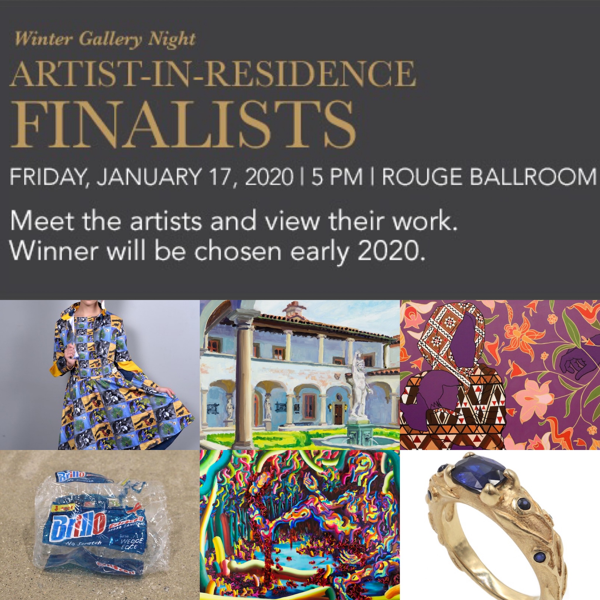 SIX FINALISTS NAMED FOR THE PFISTER HOTEL'S 12TH ARTIST IN RESIDENCE